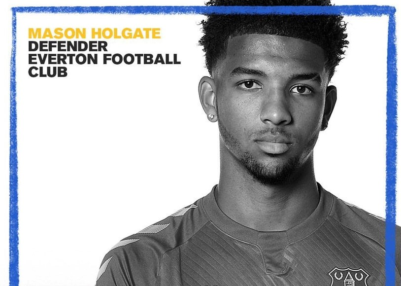Mason Holgate, Everton FC Defender, takes part in Anthony Walker Foundation Black History Month Campaign