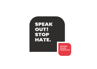 Speak out! Stop hate. logo