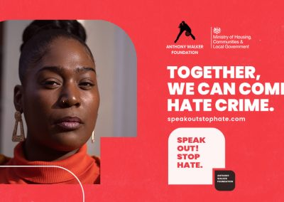 twitter post. Together. We can combat hate crime.