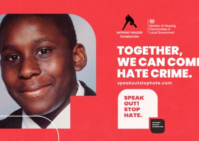 Twitter post. Together we can combat hate crime.